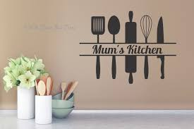 >mum s kitchen with utensils kitchen wall decals wall art sticker mum s kitchen with utensils uk kitchen wall decal sticker
