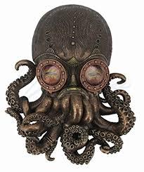 steampunk octopus wall art
