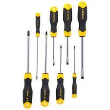 precision tools stanley. cushion grip screwdriver set (8-piece) precision tools stanley