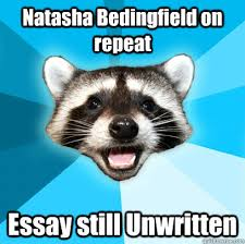 Natasha Bedingfield on repeat Essay still Unwritten - Lame Pun ... via Relatably.com
