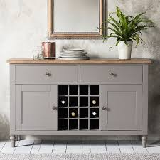 sideboard with wine rack. Simple Wine Solid Oak Sideboard With A Painted Storm Grey Finish Two Cupboards  Drawers And On Sideboard With Wine Rack