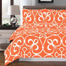 victoria tangerine white reversible duvet cover set tap to expand