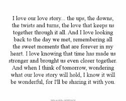I Love Our Love Story The Ups The Downs The Twists And Turns Classy Ups Quotes