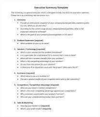 Executive Summary Word Template Puebladigital Net