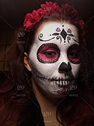 sugar skull make up costume for nominated