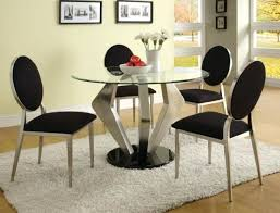 caesar modern glass dining table set with 6 seater white