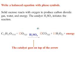 write a balanced equation with phase symbols