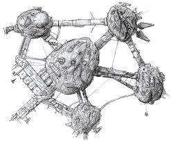 Asteroid Base Sketch Space Stations Pinterest