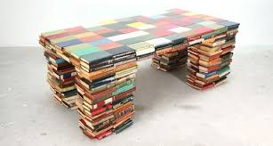 table recycled materials. Tables. Coffee_table_from_phone_directory Table Recycled Materials T