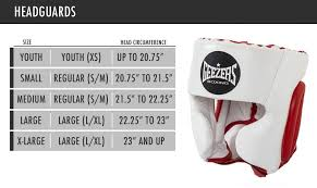 Boxing Head Guard Size Chart Size Guide