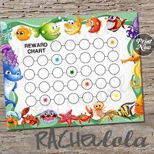 Downloadable Reward Charts Undersea Ocean Animal Reward Chart For Kids Printable Chore Chart
