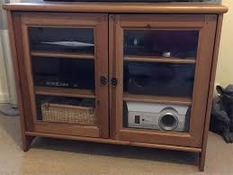 ikea leksvik antique pine tv cabinet with glass doors and key with regard to tv