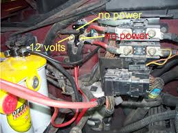 97 f 150 cables that were melted and the firewall mounted solenoid F150 Wire Hood only the red one has 12 volts graphic f150 wire diagram 2008