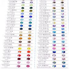 2028 Crystal Non Hot Fix Rhinestone Color Chart 81 Colors Crystal Glass Non Hotfix Rhinestones Use For Choose Colors B3439
