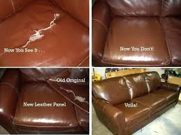 repair tear in leather couch torn cushion