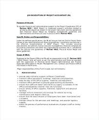Project Accountant Job Description Cover Letter Accounting Project ...