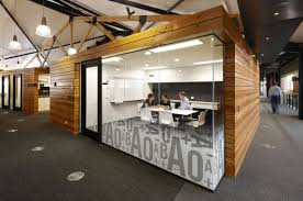 internal office pods. They Were Reused For Cladding Of The Office \u201cpods\u201d, Lift Shafts And Also In Fabrication New Timber Trusses Above Open Plan Internal Pods Y