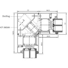 Detailzeichnungen Aluminiumfenster Mb 86 Si Fensterblickde