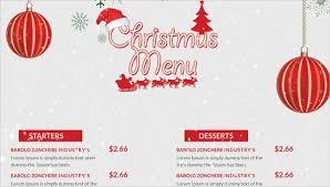 41 Sample Christmas Menu Templates Word Pad Ai Free