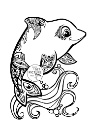 Small Picture Dolphin Animal Coloring Pages Dolphin Mandala Funny Page