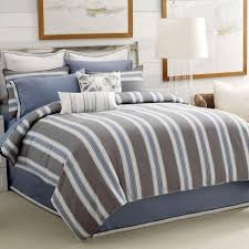Small Picture Nautical Bedding White Navy Stripe Queen Nautical Bedding Bed