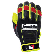 Batting Glove Size Chart Franklin Franklin Cfx Pro Revolt Batting Glove Yellow Black Red