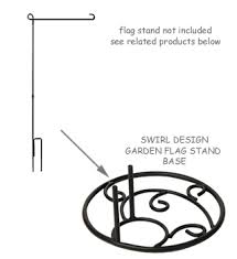 garden flag stand. Swirl Base For Garden Flag Stand A