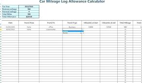 Car Mileage Spreadsheet 650 381 Sample Mileage Log For