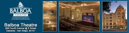 Balboa Theatre Seating Chart San Diego Theatres