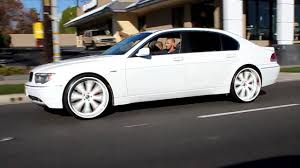 BMW Convertible 2004 bmw 750 : ANDREW's WHITE 745 on 24's - YouTube