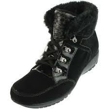Sporto Womens Black Suede Waterproof Snow Boots Shoes 9