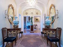 Round Entry Way Table Apartments Elegant French Style Apartment Hall Way Interior Half