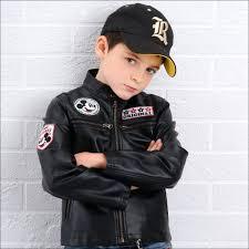 black leather jacket for toddler boy