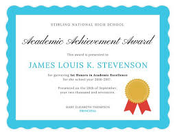 Certificate Of Excellence Template Word Adorable Academic Excellence Certificate Templates By Canva