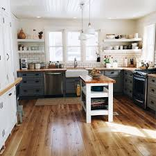 Delighful White Country Kitchen With Butcher Block Love The Countertops And Dark Grout To Inspiration Decorating