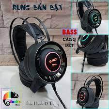 Tai nghe Gaming G-Net H7S Rung Led I Headphone GNet H7s Led 7 màu, Có Rung