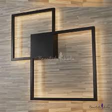 post modern minimalist black square led