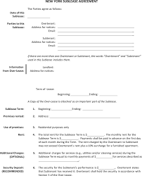 Sublease Agreement Samples Sublease Agreement Nyc Pdf Metierlink Com