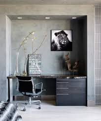 contemporary boston unit example of a trendy study room design in boston with gray walls light amazing rustic home office