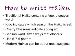 Haiku Pattern Adorable Haiku Poetry