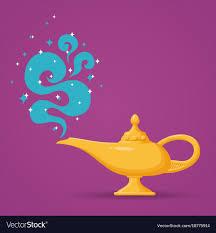 Magic Aladdin Lamp Royalty Free Vector Image Vectorstock