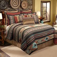 rustic king bedding the quality veratex santa fe comforter set is constructed from smooth polyester and