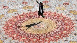 the photo shows the world s largest carpet woven in the northeastern iranian city of neishabour