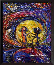 The most common jack and sally decor material is cotton. Uhomate 4 Pcs Jack Sally Jack And Sally Nightmare Before Christmas Vincent Van Gogh Starry Night Posters Wall Art Baby Gift Wall Decor Bedroom Bathroom Artwork M038 13x19 Posters Prints Home