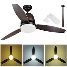52 ceiling fan with led light remote control 3 color temperatures