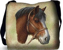 clydesdale horse tote bag