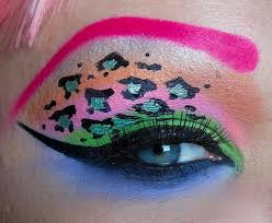 how to get a cute pastel coloured leopard print eye makeup