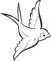 силуэт подчеркивают летающий ласточка изолированные на белом фоне