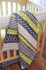 tags horizontal bright green baby bedding