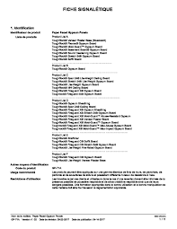 paper faced gypsum boards safety data sheet french canada pdf